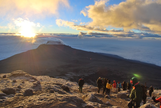 Sunrise summit Kilimanjaro